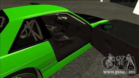 Nissan Silvia S13 Drift Monster Energy para GTA San Andreas vista posterior izquierda