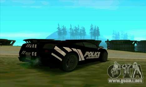 Federal Police Lamborghini Gallardo para GTA San Andreas vista posterior izquierda