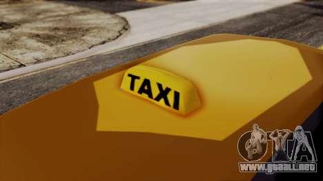 Minivan Cabbie SA Style para GTA San Andreas vista posterior izquierda