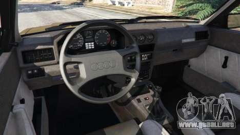 GTA 5 Audi Sport quattro v1.3 vista lateral trasera derecha