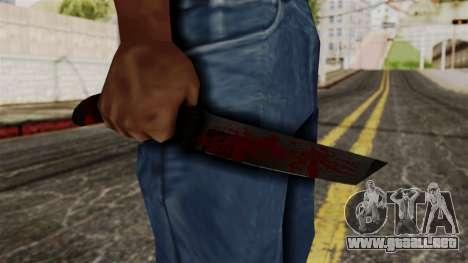Nuevo cuchillo ensangrentado para GTA San Andreas tercera pantalla
