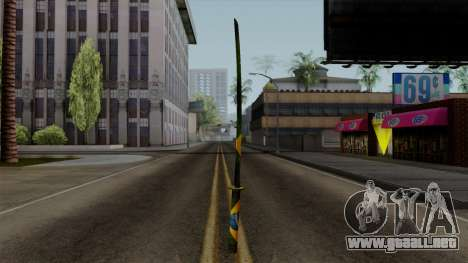 Brasileiro Katana v2 para GTA San Andreas tercera pantalla