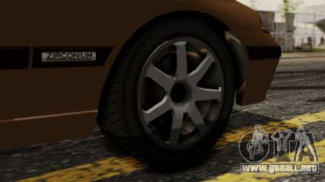 GTA 5 Zirconium Stratum para GTA San Andreas vista posterior izquierda