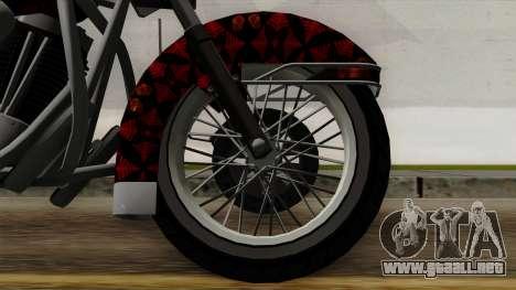 Classic Batik Motorcycle para GTA San Andreas vista posterior izquierda