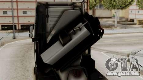 Volvo FH Euro 6 10x4 High Cab para GTA San Andreas vista hacia atrás