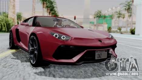 Lamborghini Asterion Concept 2015 v2 para GTA San Andreas