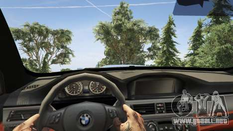 GTA 5 BMW M3 E92 Performance Kit [Beta] 0.1 vista lateral trasera derecha