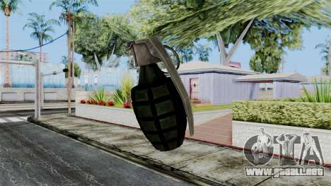 US Grenade from Battlefield 1942 para GTA San Andreas tercera pantalla