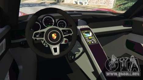 GTA 5 Porsche 918 Spyder 2013 vista lateral derecha