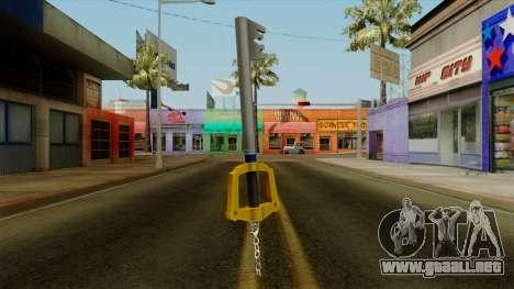 Kingdom Hearts - The Kingdom Key para GTA San Andreas segunda pantalla