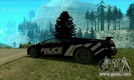 Federal Police Lamborghini Gallardo para GTA San Andreas left