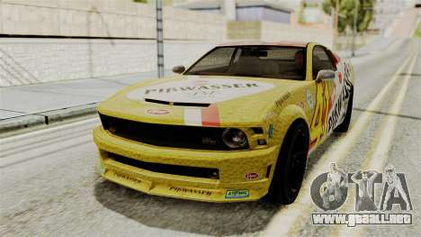 GTA 5 Vapid Dominator SA Style para GTA San Andreas vista hacia atrás