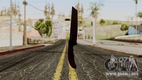 Nuevo cuchillo ensangrentado para GTA San Andreas