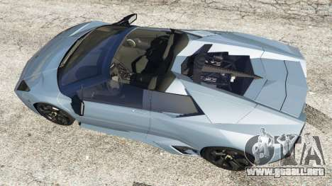 GTA 5 Lamborghini Reventon Roadster [Beta] vista trasera
