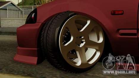 Honda Civic Hatchback B. O. De La Construcción para GTA San Andreas vista posterior izquierda
