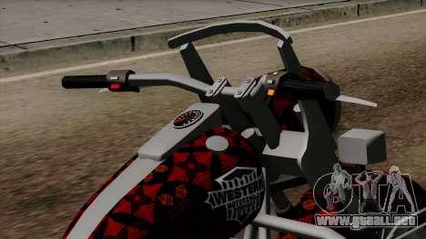 Classic Batik Motorcycle para la visión correcta GTA San Andreas