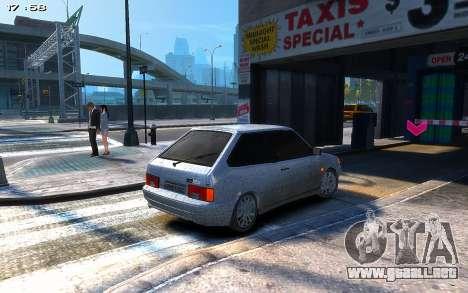 VAZ 2113 para GTA 4 vista hacia atrás