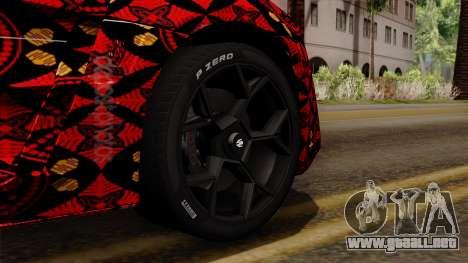 Lykan Hypersport Batik para GTA San Andreas vista posterior izquierda