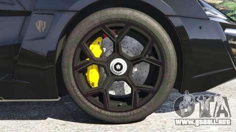GTA 5 Lykan HyperSport 2014 vista lateral trasera derecha