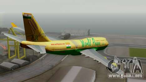 Boeing 747-400 World Peace para GTA San Andreas left