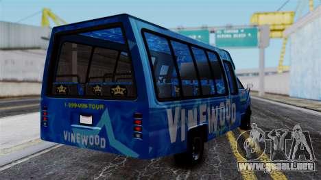 Vinewood VIP Star Tour Bus para GTA San Andreas left
