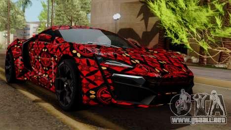 Lykan Hypersport Batik para GTA San Andreas