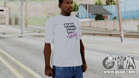 GTA Vice City T-shirt White para GTA San Andreas segunda pantalla