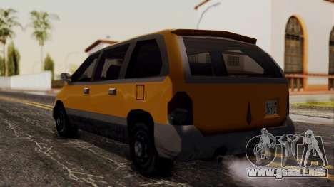 Minivan Cabbie SA Style para GTA San Andreas left