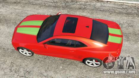 GTA 5 Chevrolet Camaro SS 2010 [Beta] vista trasera