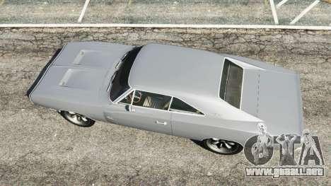 GTA 5 Dodge Charger RT SE 440 Magnum 1970 vista trasera