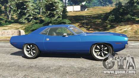 GTA 5 Plymouth Barracuda 1970 vista lateral izquierda