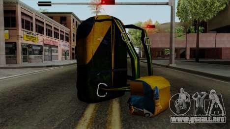 Brasileiro Parachute v2 para GTA San Andreas segunda pantalla
