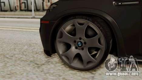 BMW X5 para GTA San Andreas vista posterior izquierda