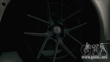 BMW M5 F10 Grey Demon para GTA San Andreas vista hacia atrás
