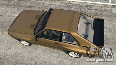 GTA 5 Audi Sport quattro v1.3 vista trasera