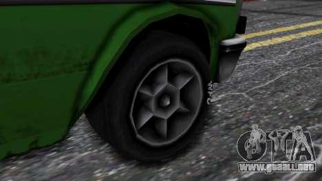 Drag-Perennial para GTA San Andreas vista posterior izquierda