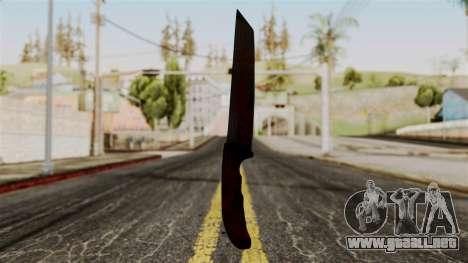 Nuevo cuchillo ensangrentado para GTA San Andreas segunda pantalla