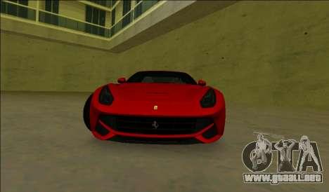 El Ferrari F12 Berlinetta para GTA Vice City left