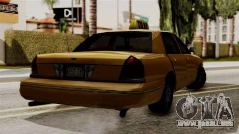 Ford Crown Victoria LP v2 Taxi para GTA San Andreas vista posterior izquierda