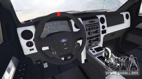 GTA 5 Ford F-150 SVT Raptor 2012 vista lateral trasera derecha