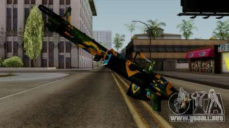 Brasileiro Minigun v2 para GTA San Andreas segunda pantalla