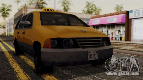 Minivan Cabbie SA Style para GTA San Andreas