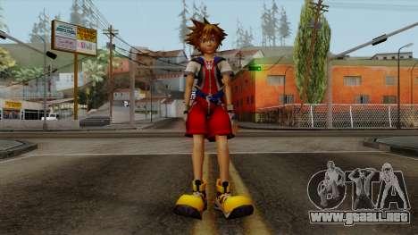 Kingdom Hearts 2 - Sora KH1 Costume para GTA San Andreas segunda pantalla