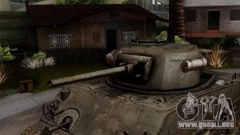 M4 Sherman from CoD World at War para la visión correcta GTA San Andreas
