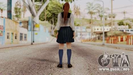 DOA 5 Kasumi School Girl para GTA San Andreas tercera pantalla