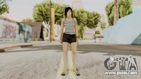 DOA 5 Kokoro Casual para GTA San Andreas segunda pantalla