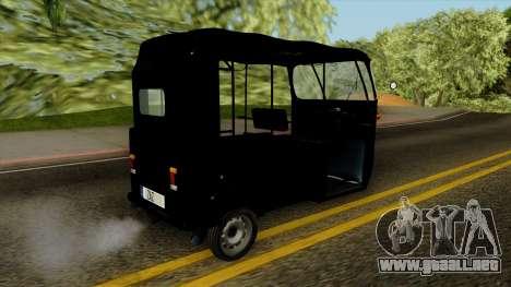 Indian Auto Rickshaw Tuk-Tuk para GTA San Andreas left