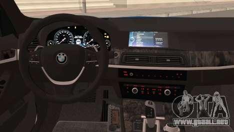 BMW 520 Comité de Investigación para visión interna GTA San Andreas