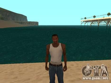 De color verde oscuro realistas de agua para GTA San Andreas segunda pantalla