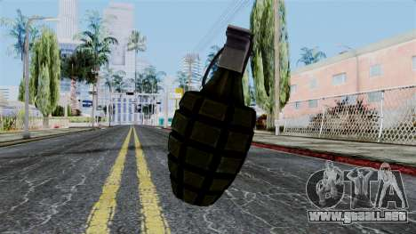 US Grenade from Battlefield 1942 para GTA San Andreas segunda pantalla